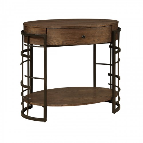 beside a sofa or just about anywhere this wood veneer accent table