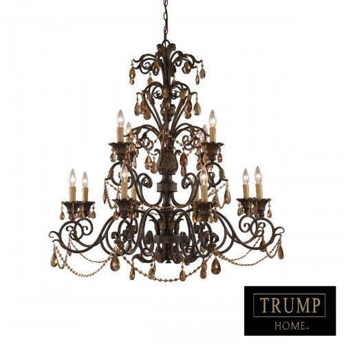 ELK Lighting Classic Crystal Chandelier, Accentuations Brand, Furniture by ABD