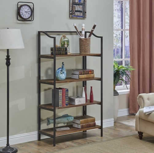 this open shelf bookcase is perfect for the kitchen family room game room living room office and more
