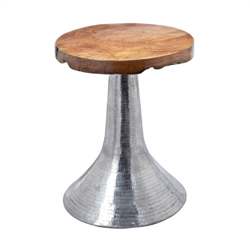ELK Lighting Hammered Decorative Teak Table1 for Sale Brooklyn, New York