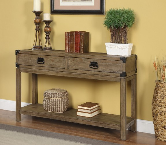 67458 unique console table will add style and storage to your space