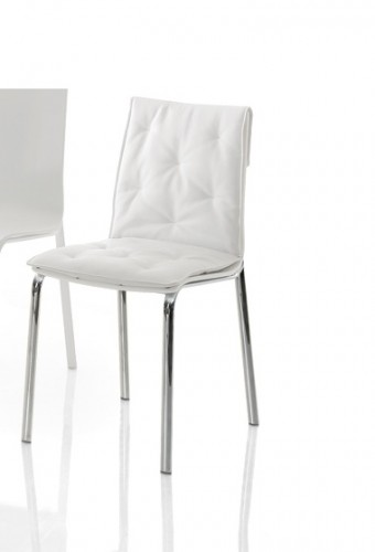 Bontempi Chairs, Aida Chair Metal Legs