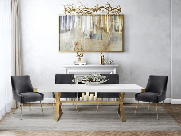 Accentuations Cheap Modern Dining Room Tables, Adeline Dining Table