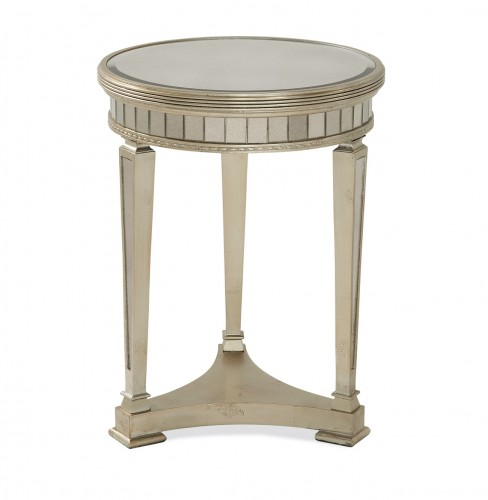 Bassett Mirror Borghese Round End chess table for sale Brooklyn, New York