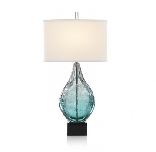 Light Azure Art Glass Table Lamp, John Richard Table Lamp, Brooklyn, New York, Furniture y ABD