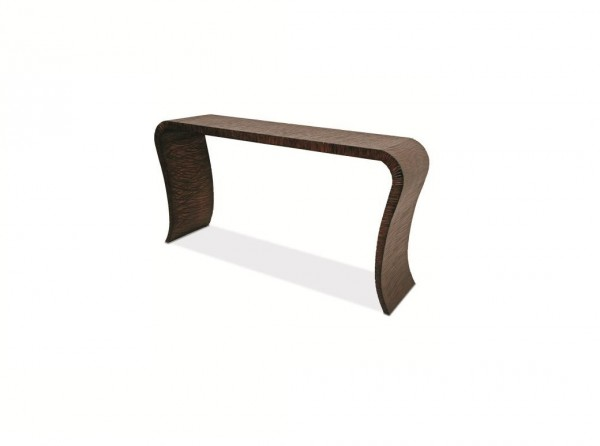 Century Furniture Wave Glass and Wood Console Table Brooklyn, New York