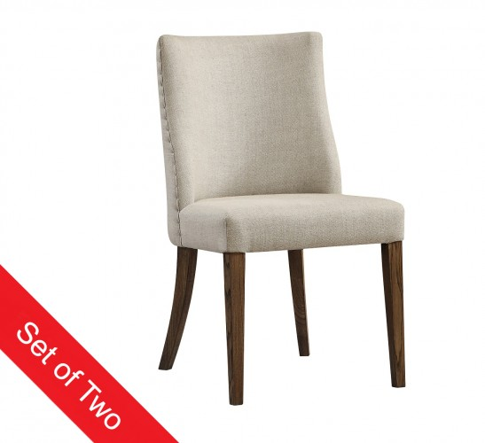 136Upholstered in a natural textured fabric with tapered wood legs49