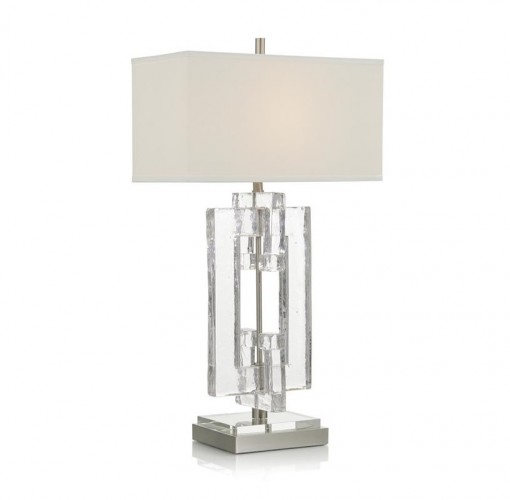 Marbled Glass Table Lamp, John Richard Table Lamp, Brooklyn, New York, Furniture y ABD