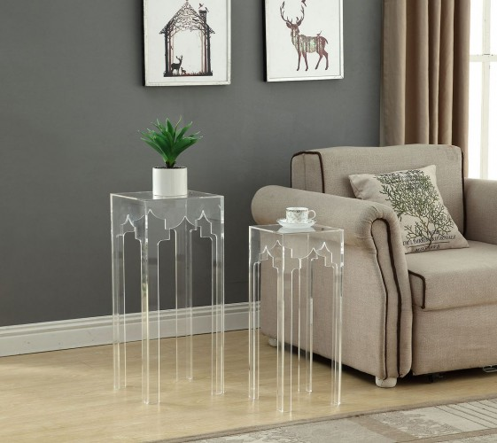 nesting tables are almost invisible with their clear acrylic frame