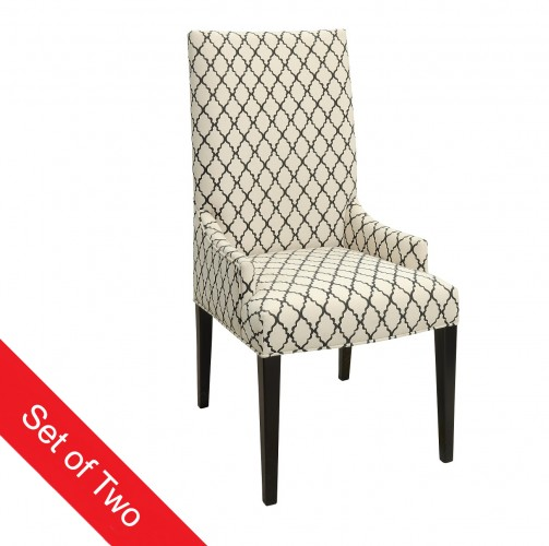 Upholstered comfort with a tall back and low sides