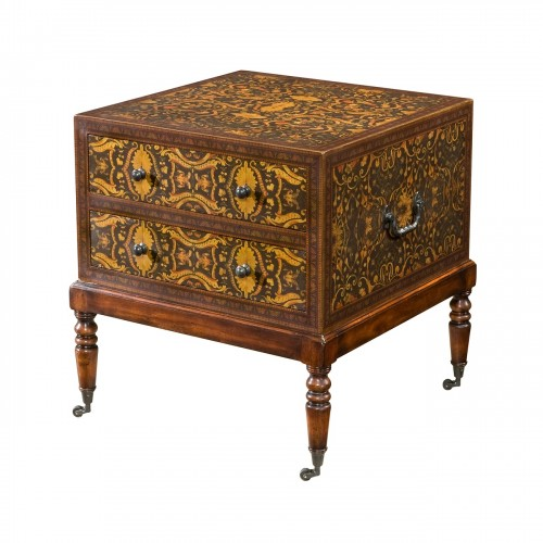 6002 120 Pattern Underfoot Accent Table Theodore Alexander