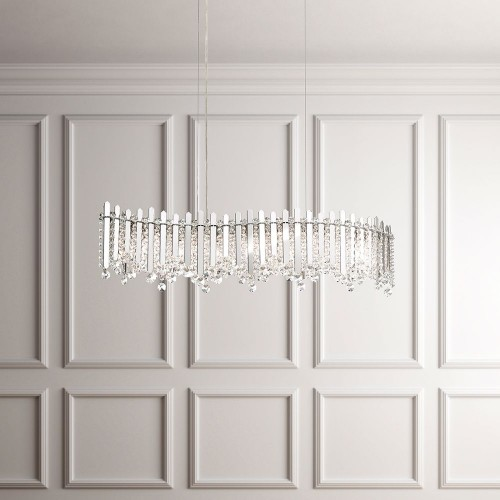 Schonbek Contemporary Crystal Chandeliers Brooklyn, New York, Furniture by ABD