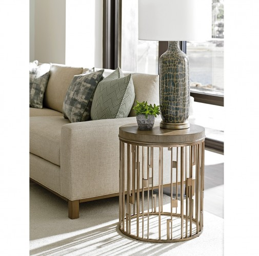 Shadow Play Studio Lexington Round Accent Lamp Table Brooklyn, New York