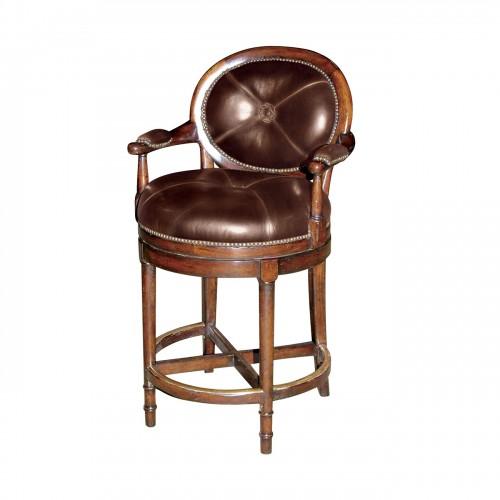 Overlooking Vineyards Bar Stool, Theodore Alexander Bar Stool, Brooklyn, New York, Furniture by ABD