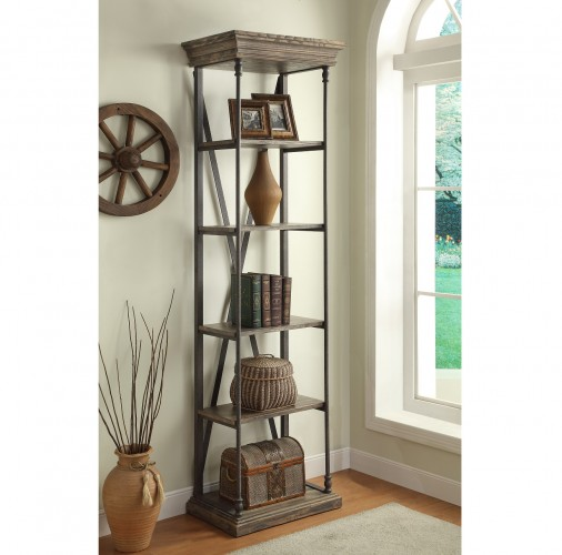 four shelves provide plenty of storage or display spac