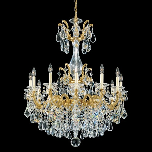 Schonbek Classic Crystal Chandelier, Furniture by abd, Accentuations Brand