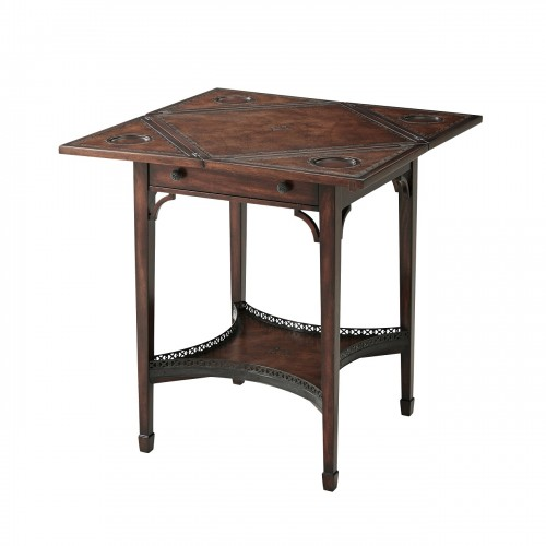 The Georgian Envelope Game Table, Theodore Alexander Table