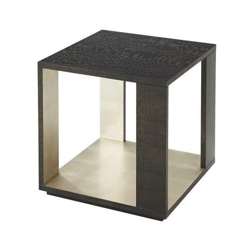 5105 399 Platinum Tamo Cube End tables Theodore Alexander