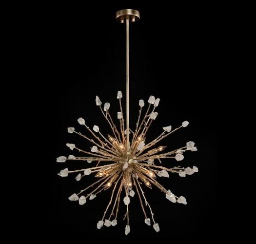 Quartz Spherical Sixteen Light Pendant, John Richard Pendant, Brooklyn, New York, Furniture y ABD