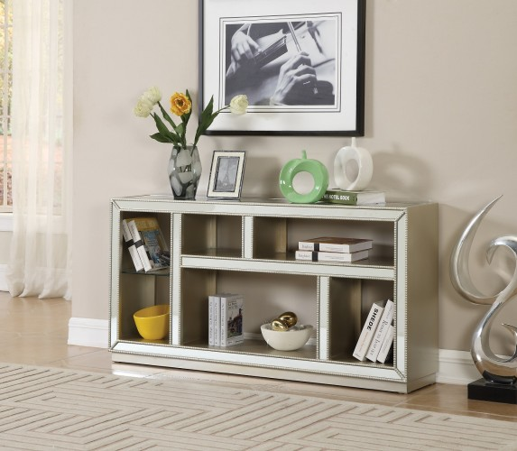 our open concept console bookcase will do just that