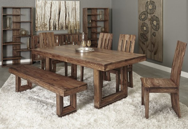 brownstone dining table in diningroom