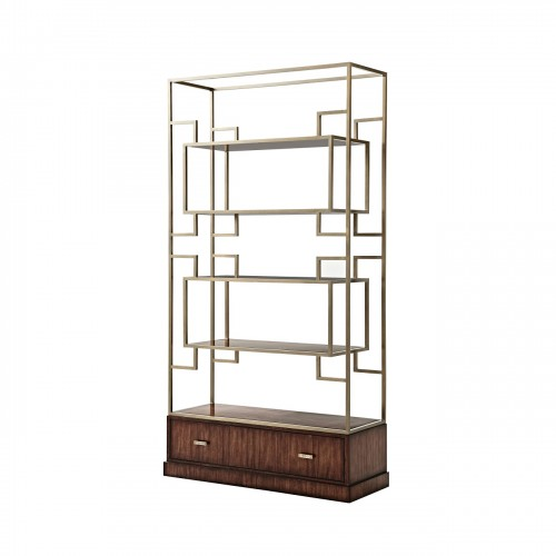 6321 030 Patterns In Brass Etagere Theodore Alexander
