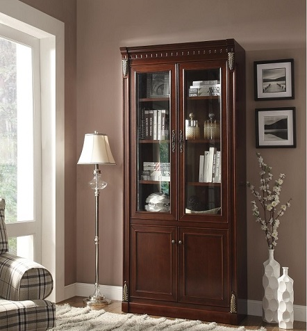 Traditional Style Bookcases, Modern Bookcases with Glass Doors Brooklyn - Accentuations Brand