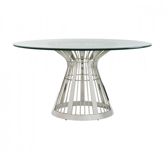 Ariana Riviera Stainless Dining Table, Round Dining Tables For Sale