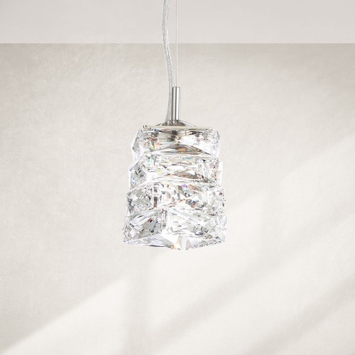 Schonbek Crystal Pendant Brooklyn, New York, Furniture by ABD
