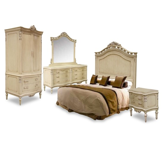 Mb White Silver Bedroom Set, Complete Bedroom Sets for Sale Brooklyn - Accentuations Brand
