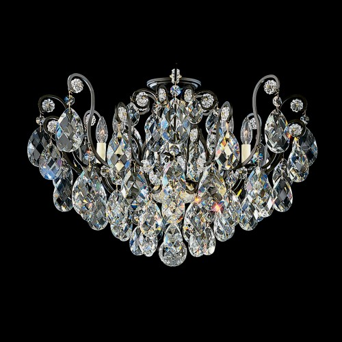 Schonbek Close to Ceiling Crystal Light Fixtures, Furniture by ABD, Accentuations Brand, Brooklyn, New York