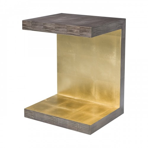 5005 856 Metallic Signature Piece Accent Table theodore alexander