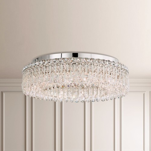 Contemporary Crystal Schonbek Chandeliers, Accentuations Brand