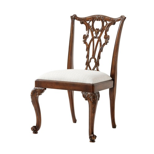 Seated in Rococo Dining Chair, Theodore Alexander Chairs Brooklyn, New York