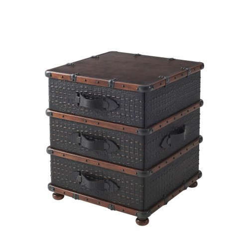 6034 003PN The Kalahari Trunk Nightstand Theodore Alexander