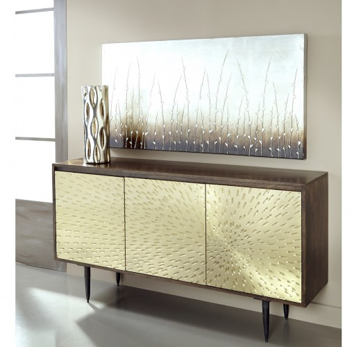 shine and sleekness are obvious attributes of this sideboard
