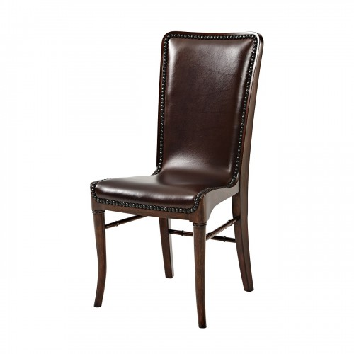 leather sling chair theodore alexander