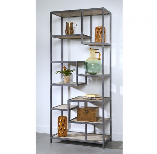 towering nine shelf etagere