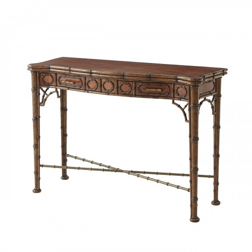 5300 138 The Edwardian Bamboo Console Theodore Alexander
