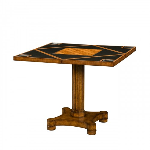 5205 096MT Circle To Square Game Table Theodore Alexander