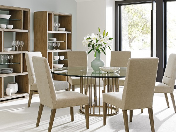 Shadow Play Rendezvous Lexington Round Classic Dining Tables for Sale Brooklyn, New York