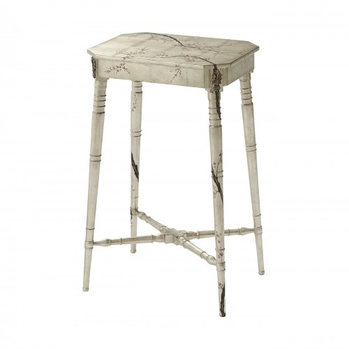 5002 253 Winter Blossom Accent Table theodore alexander
