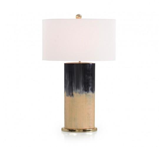 Onyx and Metallic Gold Table Lamp, John Richard Table Lamp, Brooklyn, New York, Furniture y ABD