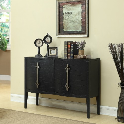 Midnight Blue textured finish give this piece the look of a vintage sideboard