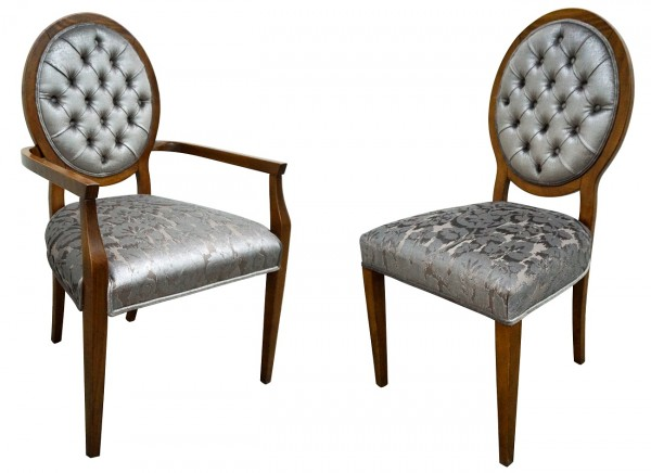 Accentuation Tufted Dining Chairs For Sale