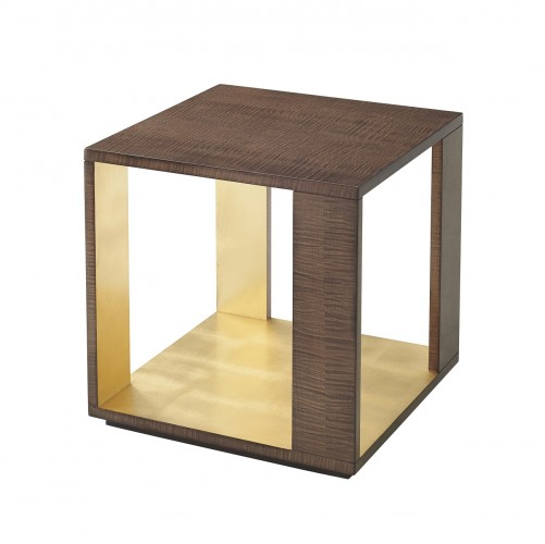 5005 837 Metallic Signature Accent Table theodore alexander