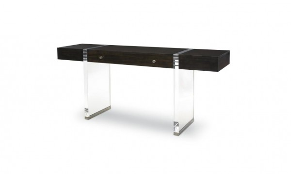 Century Furniture Glass and Wood Console Table