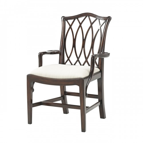 The Trellis Dining Armchair theodore alexander 4100 486