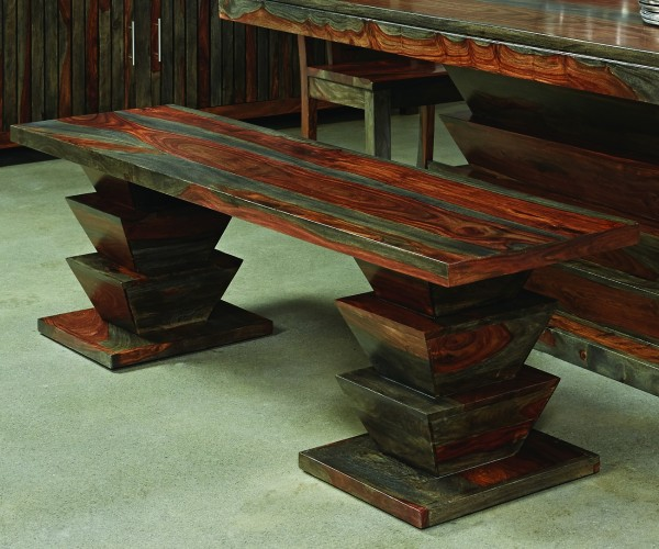 dramatic blend of colors and the stacked accordion pedestal legs