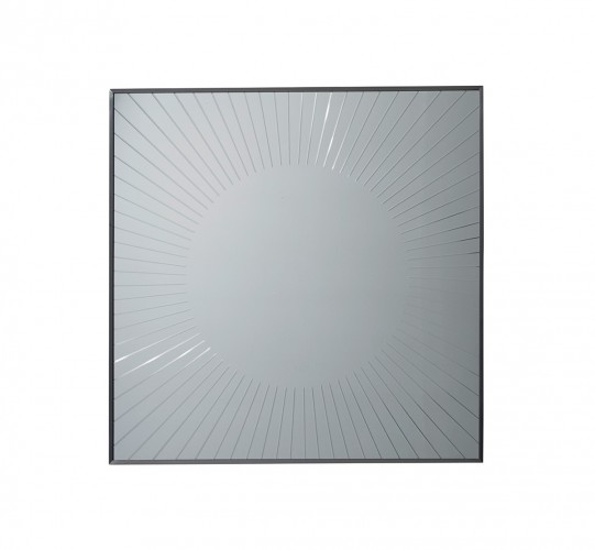 Macarthur Calliope Square Sunburst Mirror, Cheap Decorative Mirrors For Living Room